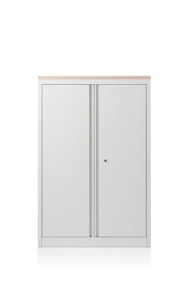 CK2 hinged door cabinet with woodtop by Herman Miller
