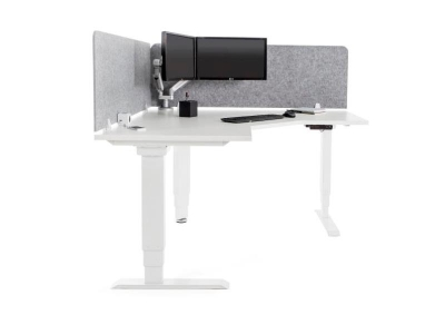 Elevar Electric 120 Degree workstation, commercial workstation desk from designcraft