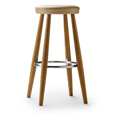 CH56 Stool, CH58 Stool, Ch56 Upholstered Barstool, CH58 Upholstered Barstool, CH56 Stool Designed by Hans J. Wegner, CH58 Stool Designed by Hans J, Wegner