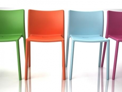 Magis multicolour chairs, Magis Air outdoor chair