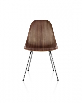 Eames Moulded Wood Side Chair, Eames Moulded Wood Side Chair Four Leg Base