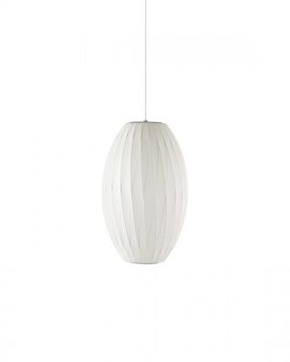 George Nelson Cigar Crisscross Bubble Lamp, Nelson Bubble Pendant by George Nelson.