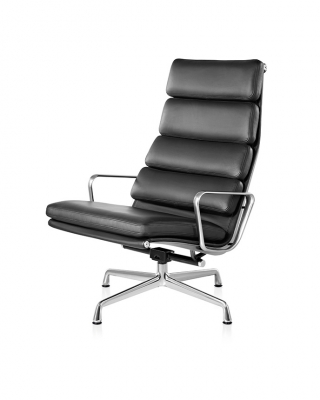 Eames Soft Pad Lounge chair, Eames Aluminium Soft pad lounge