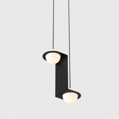 Lambert & Fils pendant light, Laurent pendant vertical, Lambert & Fils light with metal frame