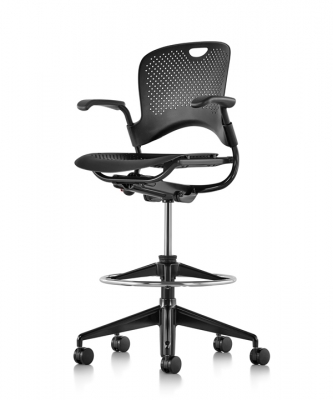 Caper stool on 5-start base, Multipurpose stool by herman miller,herman miller caper stool with arms