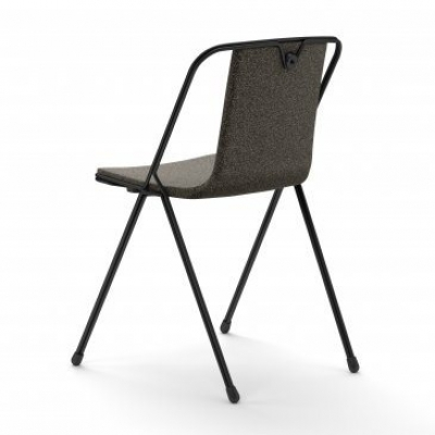 Strand chair with upholstery designed by Adam Cornish
