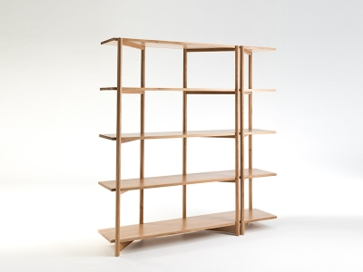 Fable open shelving designed by Ross Didier, Didier fable shelve, Timber open shelving by Didier