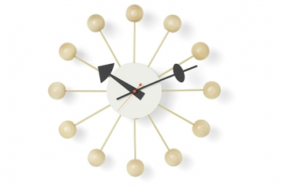 George Nelson Ball clock, Vitra Ball clock designed by George Nelson, Nelson Ball clock in Beech