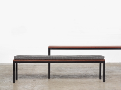 Linear collection Tait, Liner dining table and bench, Linear bench by Tait