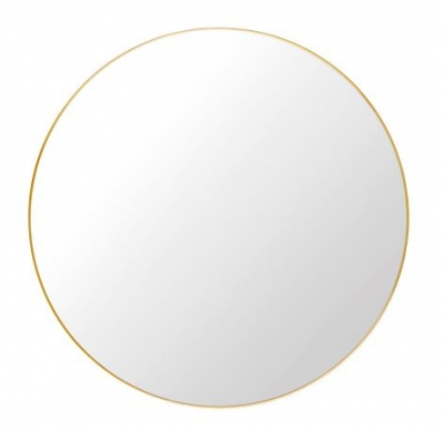 Gubi Wall Mirror, Gubi Round Brass mirror, Brass Round Mirror Gubi