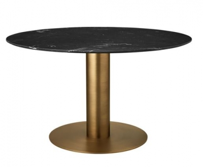 Gubi 2.0 Dining Table Round, Gubi Round dining table with column base