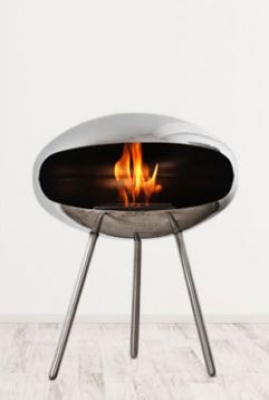 Terra Cocoon Fire fireplace, Coccon Fire designed by FEDERICO OTERO, Stand alone fire place by Cocoon Fire
