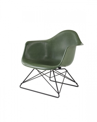 Eames Low Armchair on Rod, Eames Moulded Fibreglass chair on Low Wire Base, Eames Cats Cradle armchair, Eames LAR