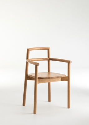 Fable dining chair designed by Ross Didier, Didier fable oak dining chair, Fable Oak dining chair by Didier