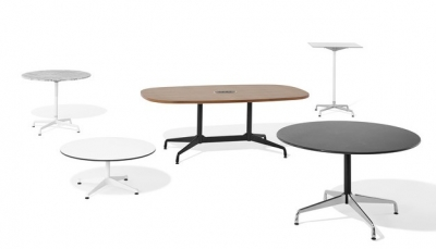 Eames Table with Segmented Base designed by Ray and Charles Ray for Herman Miller, Herman Miller Eames Segmented Table