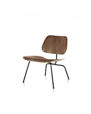Eames Moulded Plywood Lounge Chair with Metal legs, Herman Miller Eames LCM