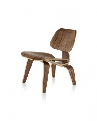 Eames Moulded Plywood Lounge Chair with Wooden legs, Herman Miller Eames LCW