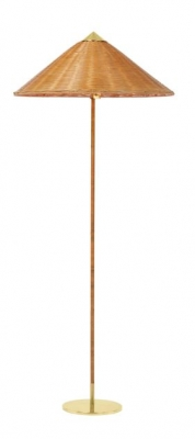 9602 Floor Lamp designed by Paavo Tynell, Paavo Tynell Chinese Hat Floor Lamp, Gubi 9602 Floor Lamp