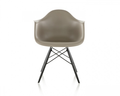 eames moulded plastic armchair with dowel base, Eames plastic side chair on dowel base