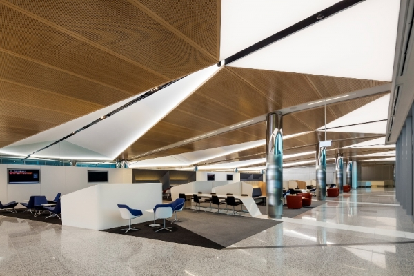 Canberra International Airport, furniture supplied by designcraft, designed by Guida Mosely Brown Architects